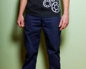 Bicycle Cog Track T-Shirt- Heather Charocoal, Screenprint, Tri-Blend, Bike, Cycling Tshirt