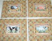 Farm Animal Placemat Set