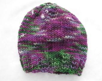 Grapevine Baby Hand-Knitted Merino Wool Baby Hat (newborn to six months)
