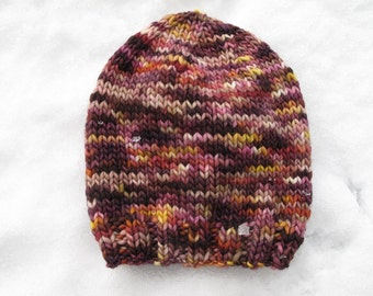 Gooseberry Baby Hand-Knitted Merino Wool Baby Hat (size six to twelve months)