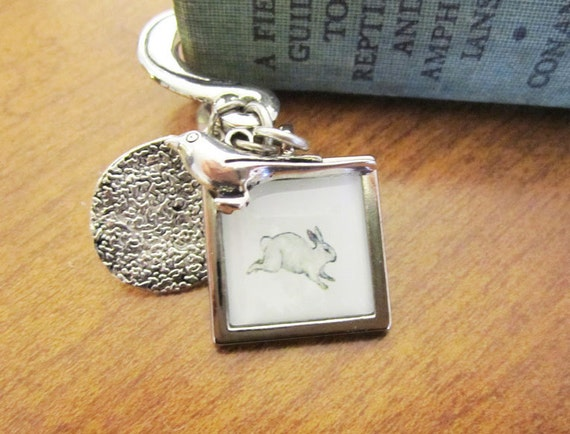 Bunny Rabbit Bookmark , Whimsical Art Bookmark