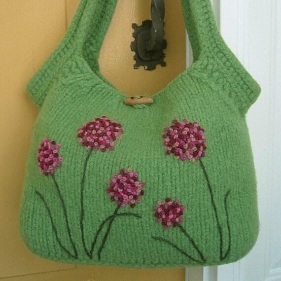 PDF PATTERN, Felted Bag Pattern, Felted Purse Pattern, Knitting Pattern Purse, Knit Purse Pattern, Knit Bag Pattern, Briggs & Little Version