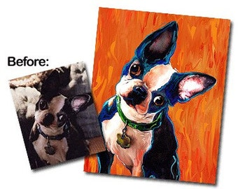 Custom Pet Portrait on Canvas 16 x 20