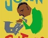 John Coltrane Jazz Art, Limited Edition Jazz art, Saxaphone Art