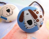 dog lovers collection - 2 ponytail holders