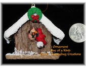 Cardinal Ornament - One of a kind