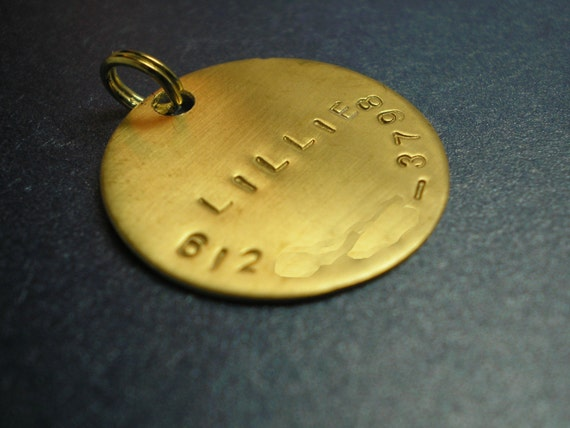 Dog Tag - Stamped Brass