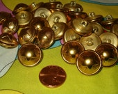 Larger Goldtone Metal Star Button Lot of 25