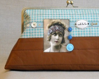 Large Quilted Frame Purse -  Clutch - Frame Bag -  Sassy Flapper - Oh La La