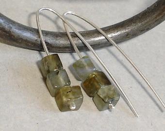 Labradorite Earrings Sterling Silver Flashy Blue Earrings