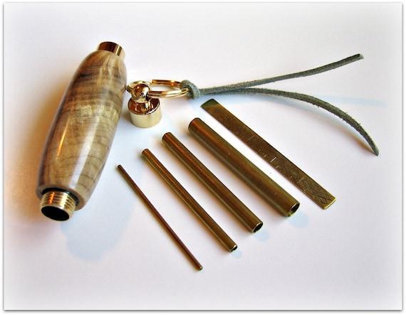 Brass Picot Gauge Set with Myrtlewood Burl Case