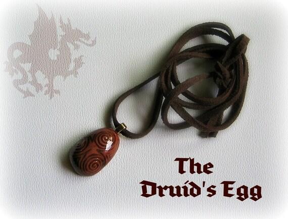 The Celtic Druid's Egg Clay Pendant