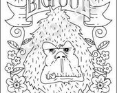 Bigfoot Embroidery Sampler Pattern