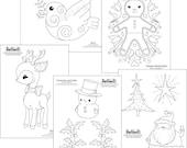 Christmas Embroidery Pattern Set