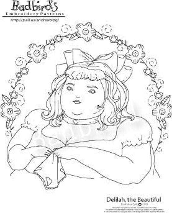 Delilah the Beautiful, Hand Embroidery Pattern