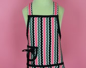 Childs Apron in Licorice Candy