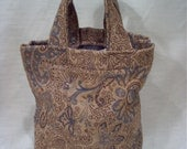 Sale Handbag in browns and blues