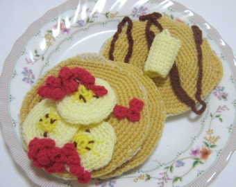 Crochet Food Pattern Pancake Crochet Pattern PDF Instant Download Hot Pancakes