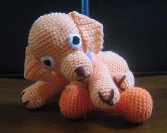 Dog Crochet Pattern Animal Amigurumi Crochet Pattern PDF Instant Download Amigurumi Puppy Paddy and his toy bone