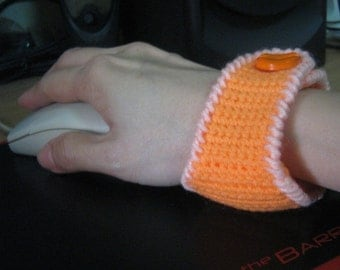 Accessories Crochet Pattern PDF Instant Download Computer Wrist Guard cum Wrist Pincushion