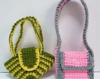 Doll Bag Crochet Pattern Bags for Blythe Crochet Pattern PDF Instant Download Two Bags for Blythe or other Similar Sized Dolls