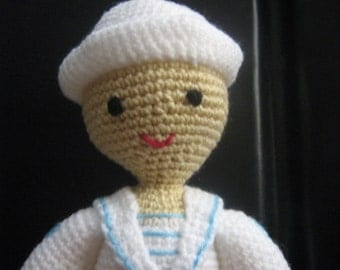 Amigurumi Doll Crochet Pattern Boy Crochet Pattern PDF Instant Download Sailorboy Scott