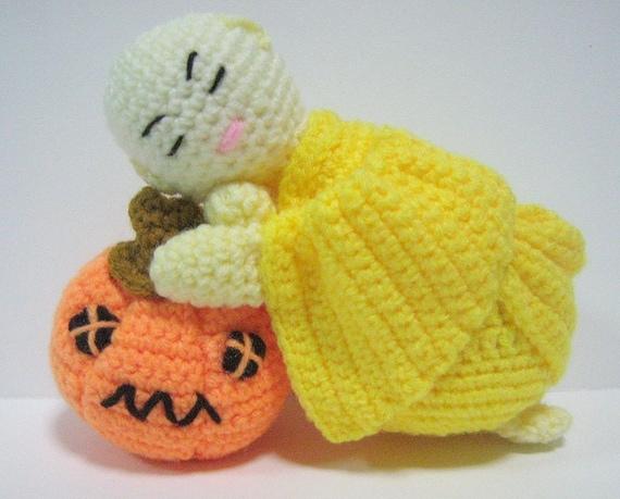 Amigurumi Pumpkin Crochet Pattern : Amigurumi Doll Crochet Pattern Monk Halloween Pumpkin Pattern