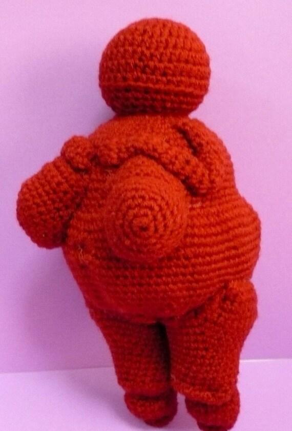 Crochet Pattern Amigurumi Fertility Goddess PDF Instant Download Venus of Willendorf