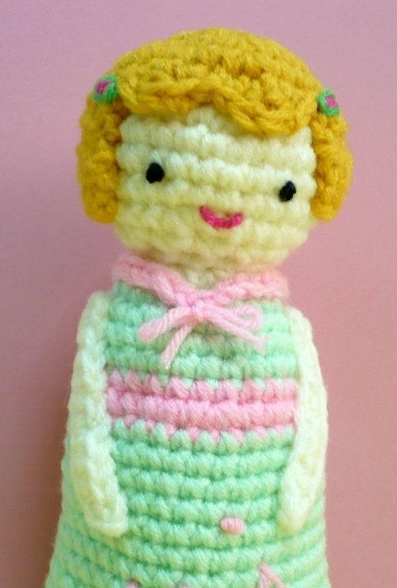 Amigurumi Doll Crochet Pattern Girl Pattern Plush PDF Instant