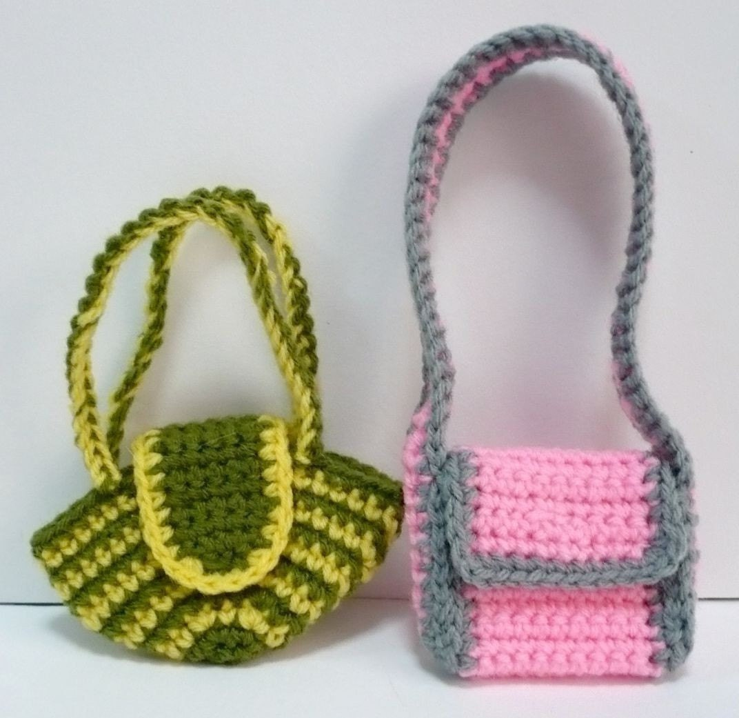 Crochet Pattern For Doll Sling : Doll Bag Crochet Pattern Bags for Blythe Crochet Pattern PDF