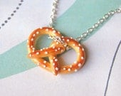 Pretzel Necklace Handmade Polymer Clay