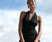 Black Chantilly Lace Scarf Wrap Dress, Size 4