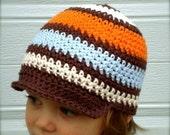 Cotton Chocolate Goldfish Stripe Bebop Brim Hat TM Child 5- Tween