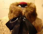 Up-Cycled Vintage Faux Mink Neck Warmer/Wrap/Scarf