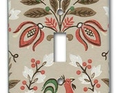 Folksy Country Rooster 1950's Vintage Wallpaper Switch Plate