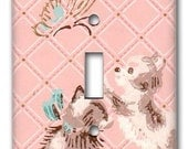 Smitten Kittens 1950's Vintage Wallpaper Switch Plate