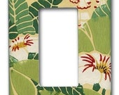 Polynesian Island Floral 1950's Vintage Wallpaper Decora Switch Plate