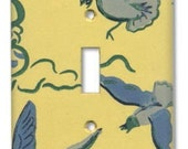 On a Gull's Wing 1950's Vintage Wallpaper Switch Plate