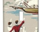 Bon Voyage 1950's Vintage Wallpaper Switch Plate