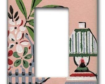 Margie's Pink Passion 1940's Vintage Wallpaper Decora Switch Plate