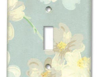 Dogwood Floral 1950's Vintage Wallpaper Switch Plate