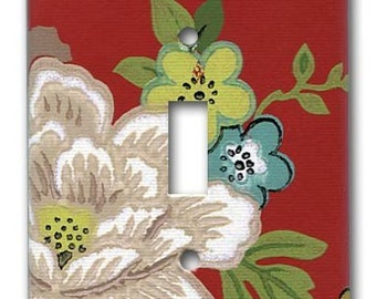 Asian Gardens 1950's Vintage Wallpaper Switch Plate