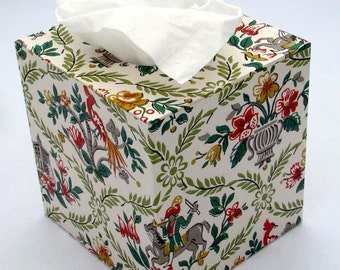 Knights of Persia 1950's Vintage Wallpaper Tissue Box Cover