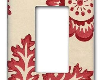 Decora Plate 1940's Vintage Wallpaper Shantung Red Leaf