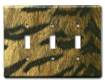 Tiger Man Triple Switch Plate 1960's Vintage Wallpaper