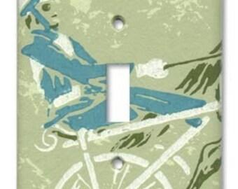 Trotter Jockey 1960's Vintage Wallpaper Switch Plate