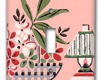 Margie's Kitchen 1940's Vintage Wallpaper Switch Plate