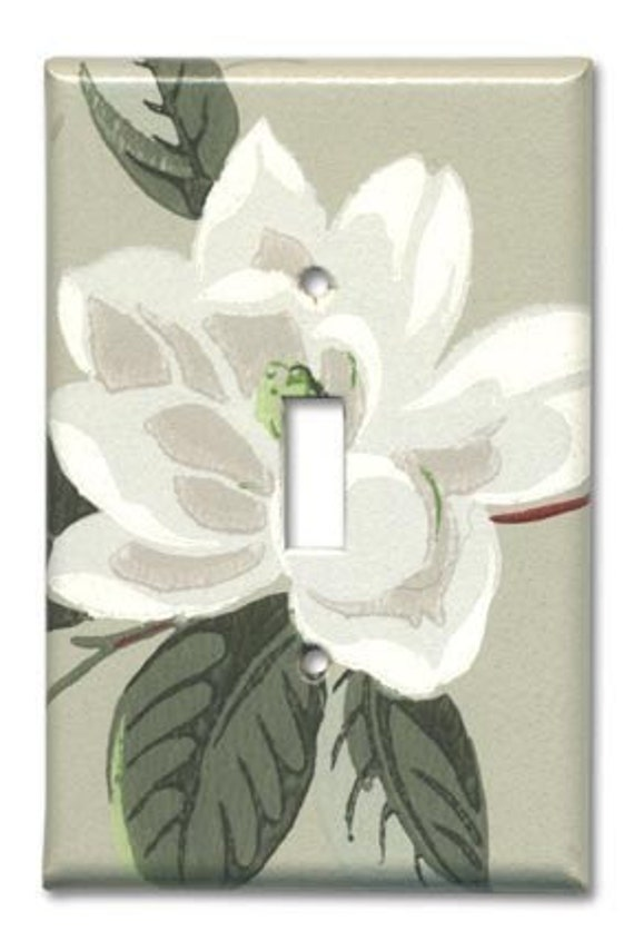 Magnolia chic 1950's Vintage Wallpaper Switch Plate