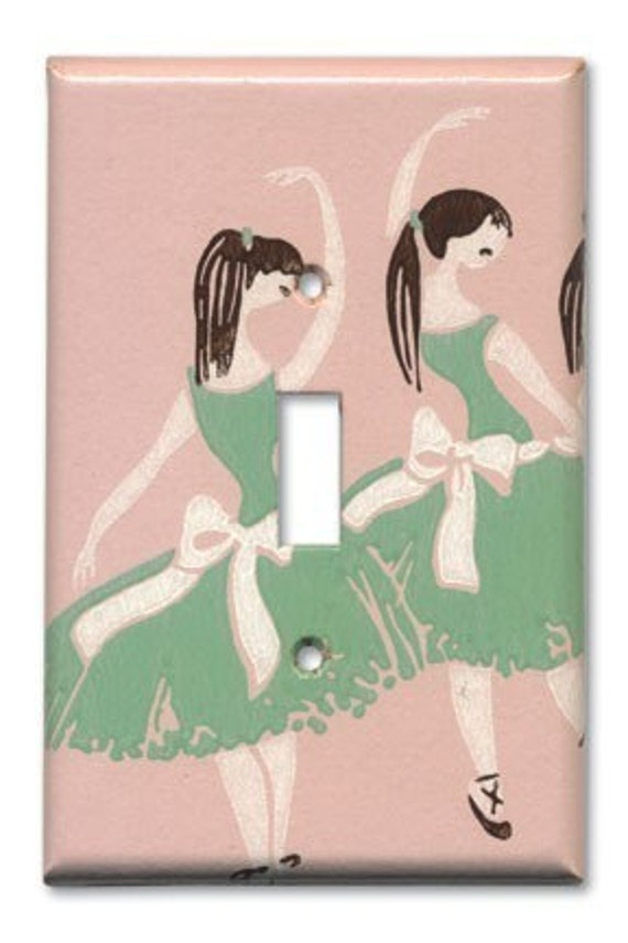 Classic Ballerinas 1950's Vintage Wallpaper Switch Plate