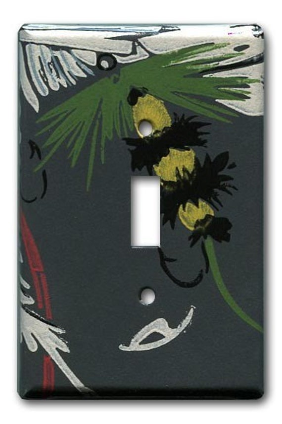 Woolly Booger Switch Plate 1940's Vintage Wallpaper Tied Fly